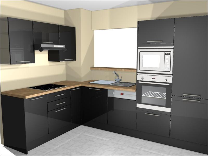 Aménagement de cuisine en vue 3D à Paris